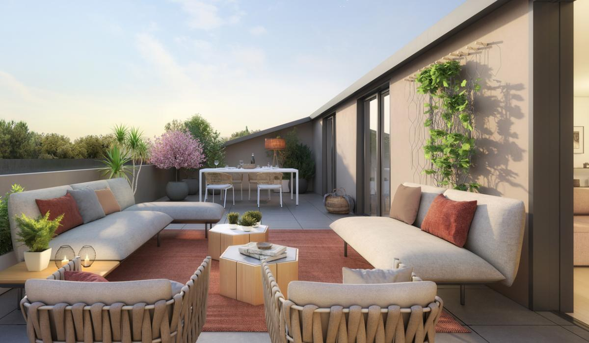 Sunset programme immobilier neuf Set Club Aix-en-Provence
